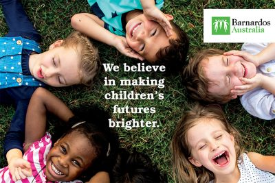 Thrill believes in children's charities and assistance by active corporate groups helping Barnardos